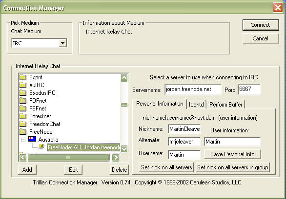 Trillian Connection Manager